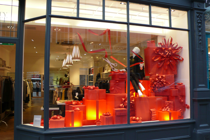 Pure collection christmas windows charlotte lawton for The christmas store